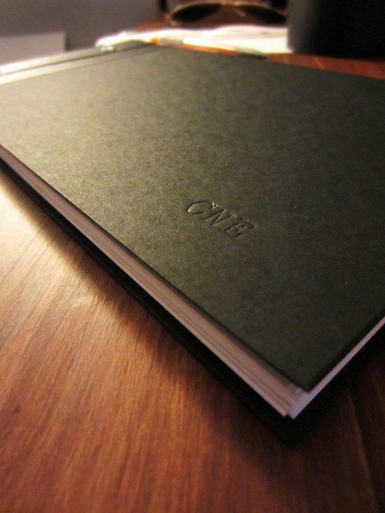 Hardcover portfolio book