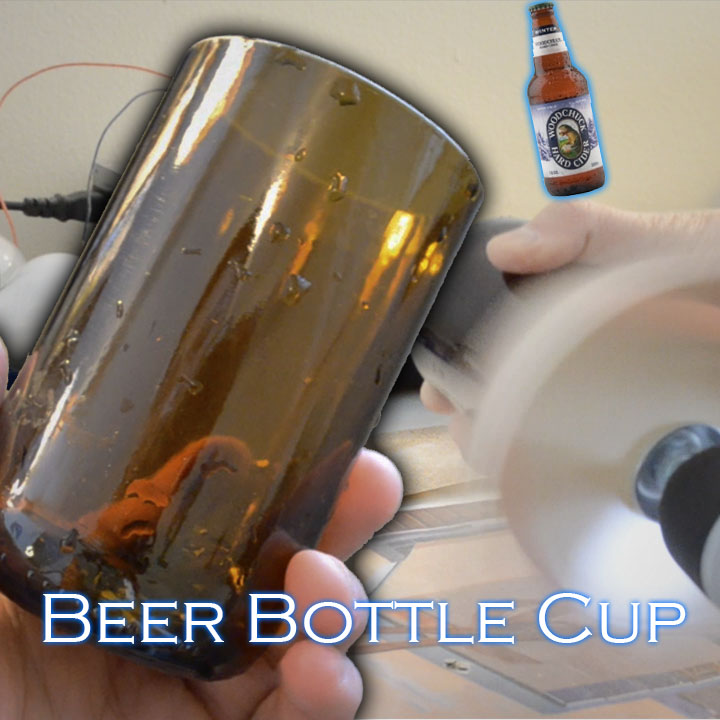 Making a Cup from a Cut Beer Bottle