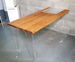 Wooden Table and Plexiglas Design DIY Sunflower Oil