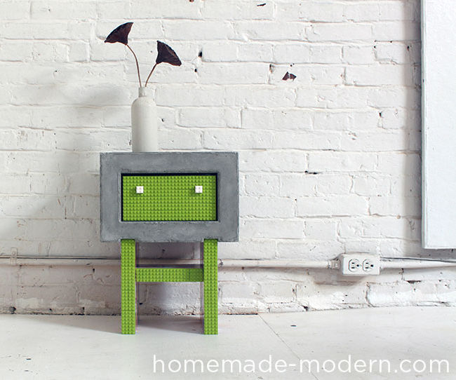 HomeMade Modern DIY Concrete Nightstand