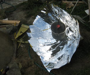 """Making and Using  a """"compound"""" Parabolic Solar Cooker (Large Project)"""