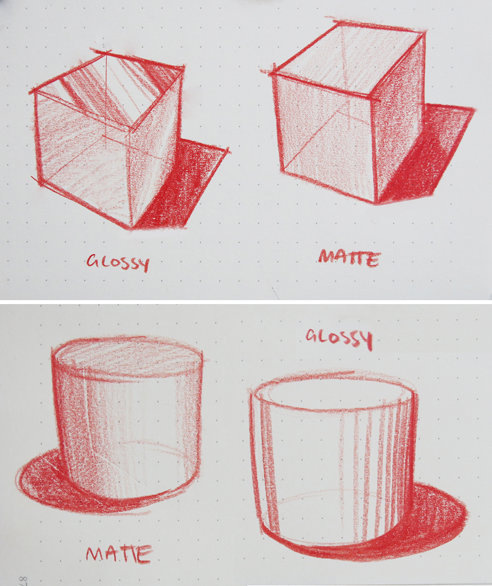 how to draw transitions surfaces