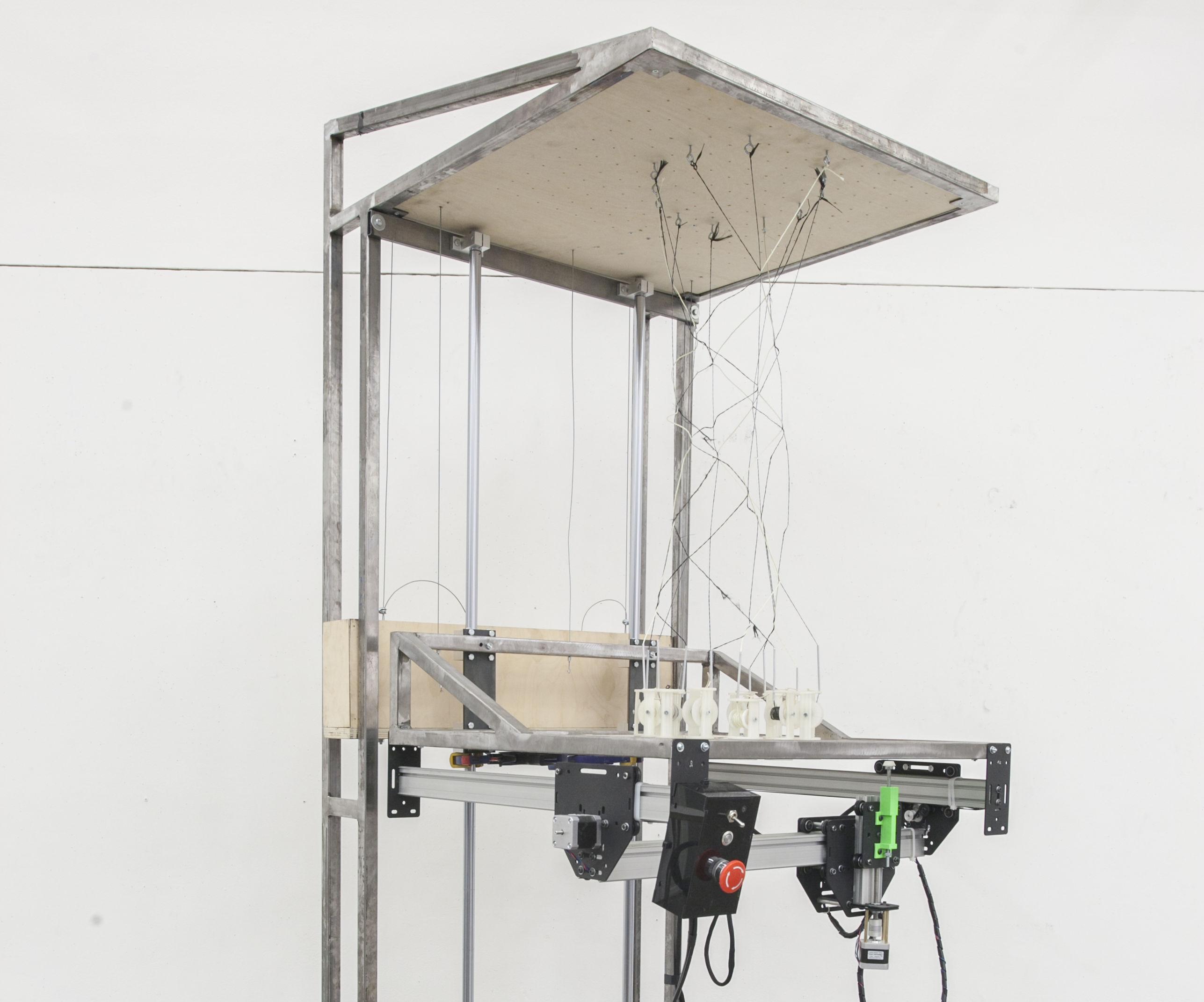 Space Weaver: A Seven Foot Tall 3D Weaving Machine