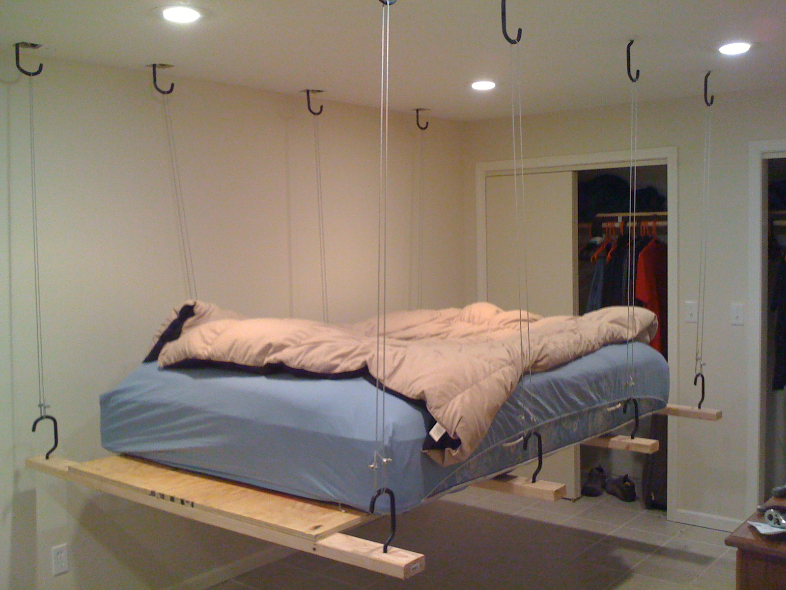Updated Hang Your Bed From The Heavens All For Around 100 5 Steps With Pictures Instructables