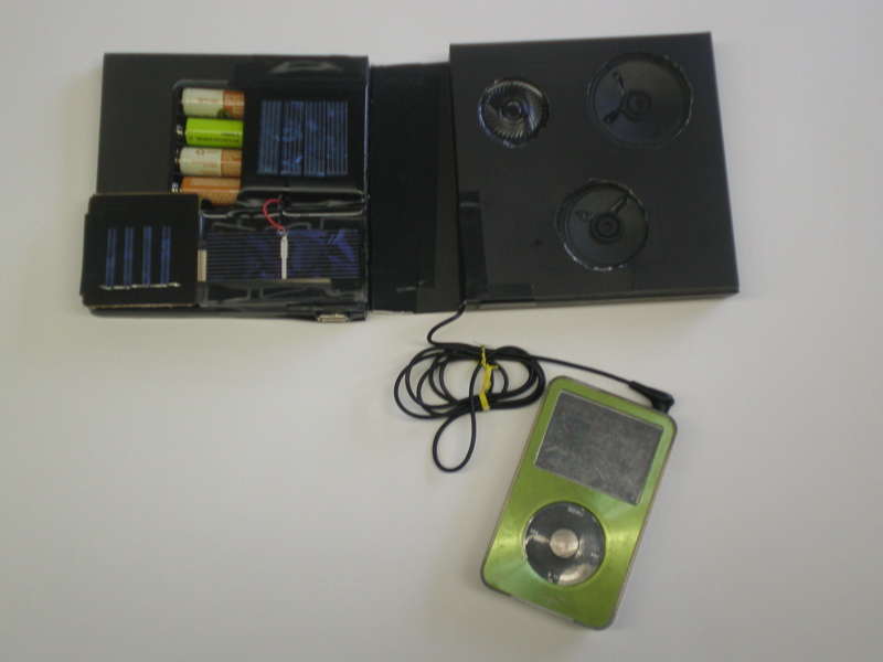 Simple Solar Powered USB Charger and Speakers