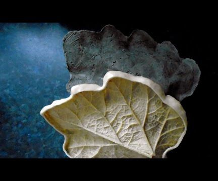 Concrete Leaf Casting - Concrete Mother Mold for Latex Leaf Mold