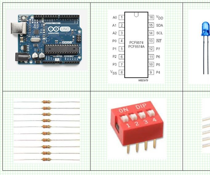 Arduino and PCF8574 IO Expander – Binary Counter and I2C Bus Read / Write