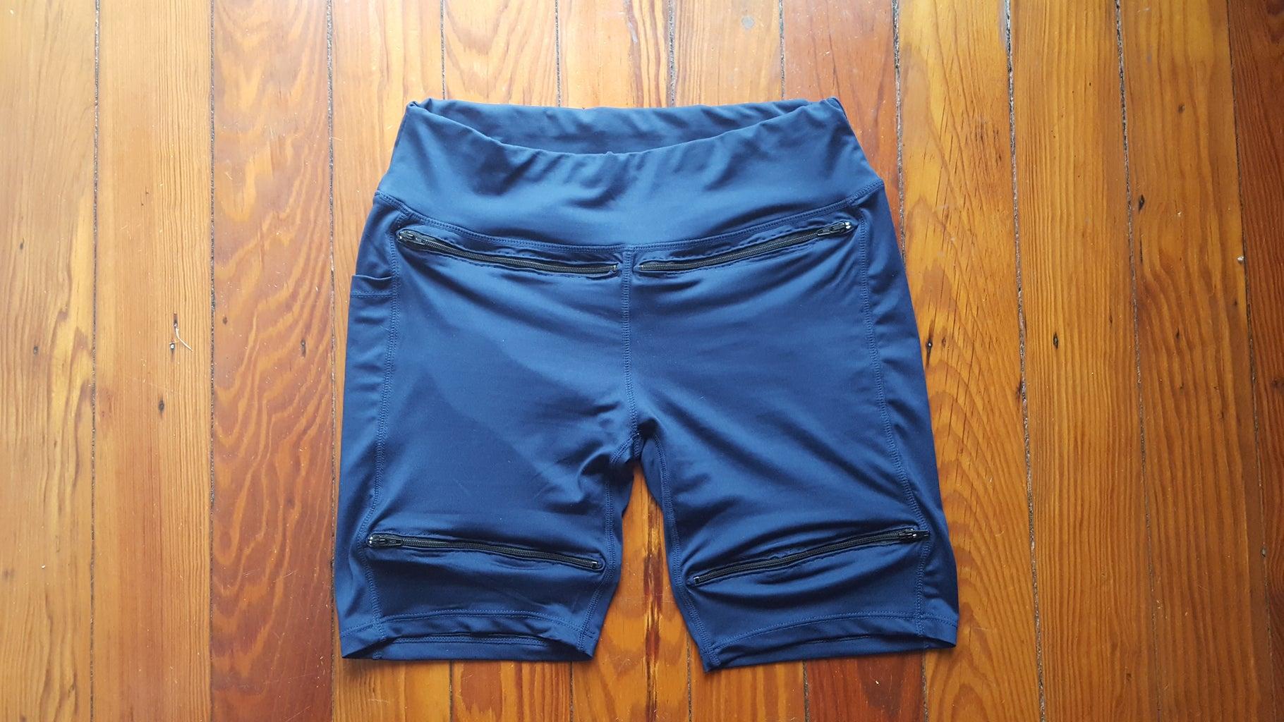 Zipper Pocket Underpants With Bottom Loading Zipper