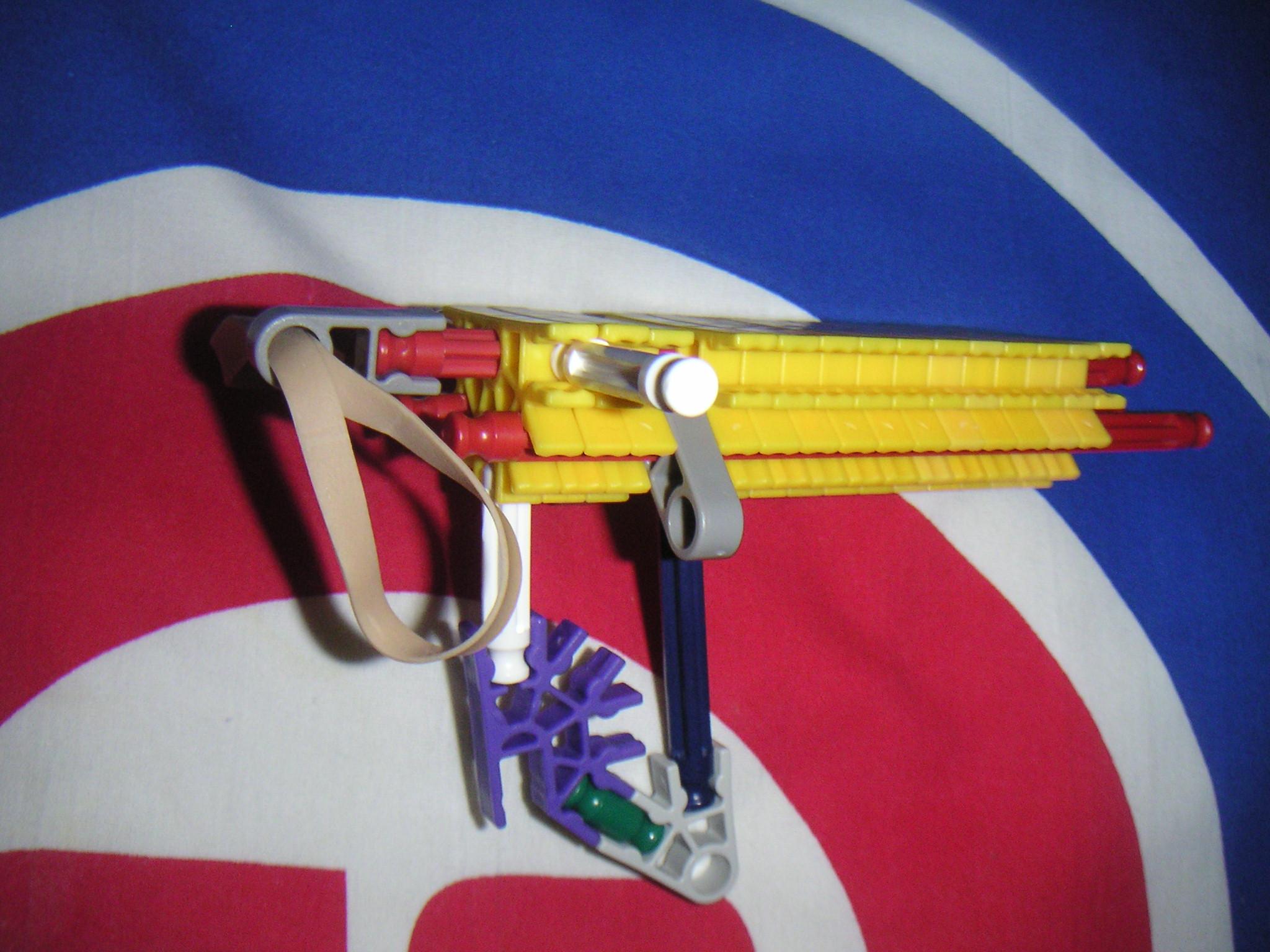 Most simplest er knex gun ever ! pocket size !