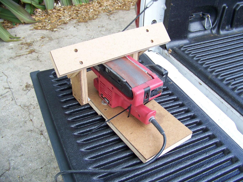 Tool Rest for a Belt Sander for Sharpening