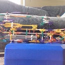 Modified Knex Helicopter with Army Jeep