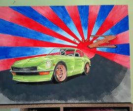 Datsun 240Z Painting.