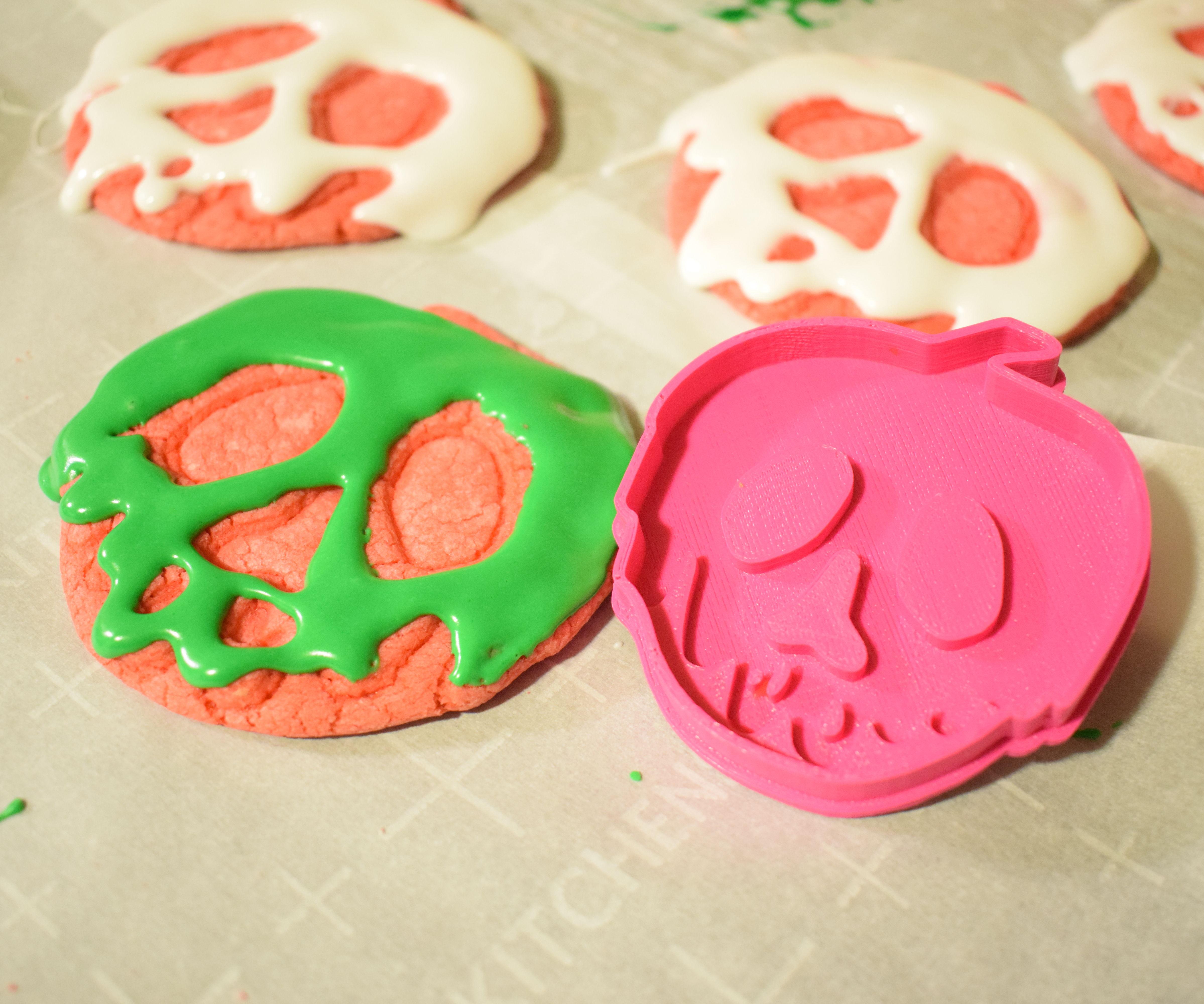 Disney Inspired Poison Apple Cookies