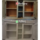 Cleaning and Fixing an Old Bathroom Cabinet
