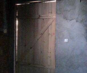 Door Wainscoting in Pine Wood