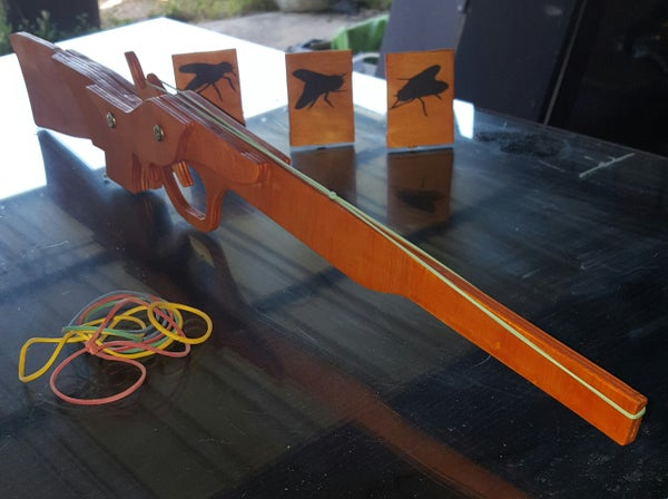 Rubber Band Gun Toy (Pine Ply Board)