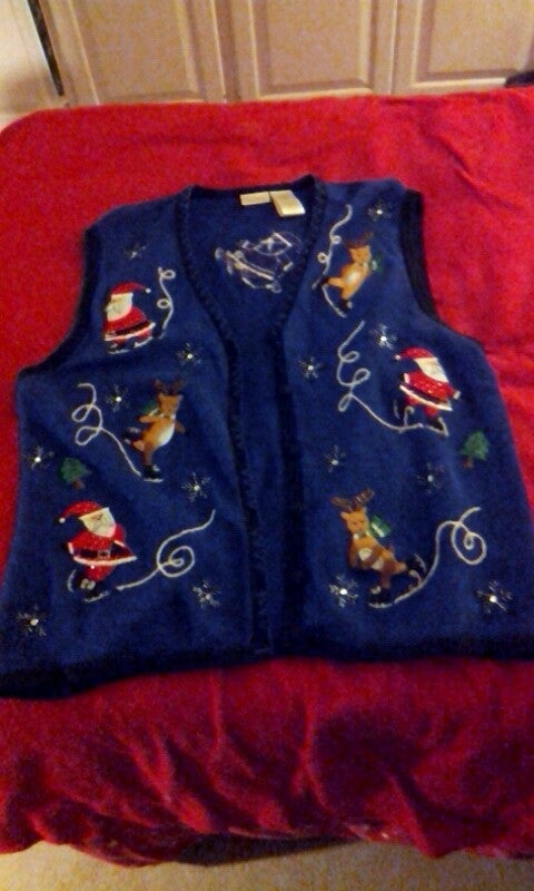 Skating Reindeer Christmas Sweater