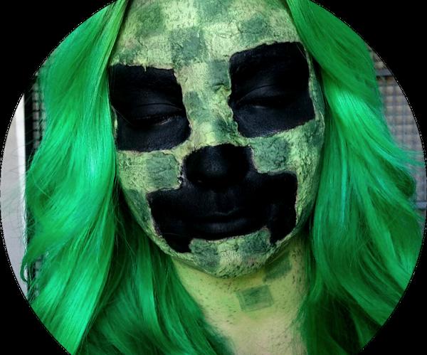 Minecraft Creeper Makeup
