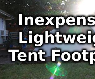 DIY Inexpensive Lightweight Tent Footprint