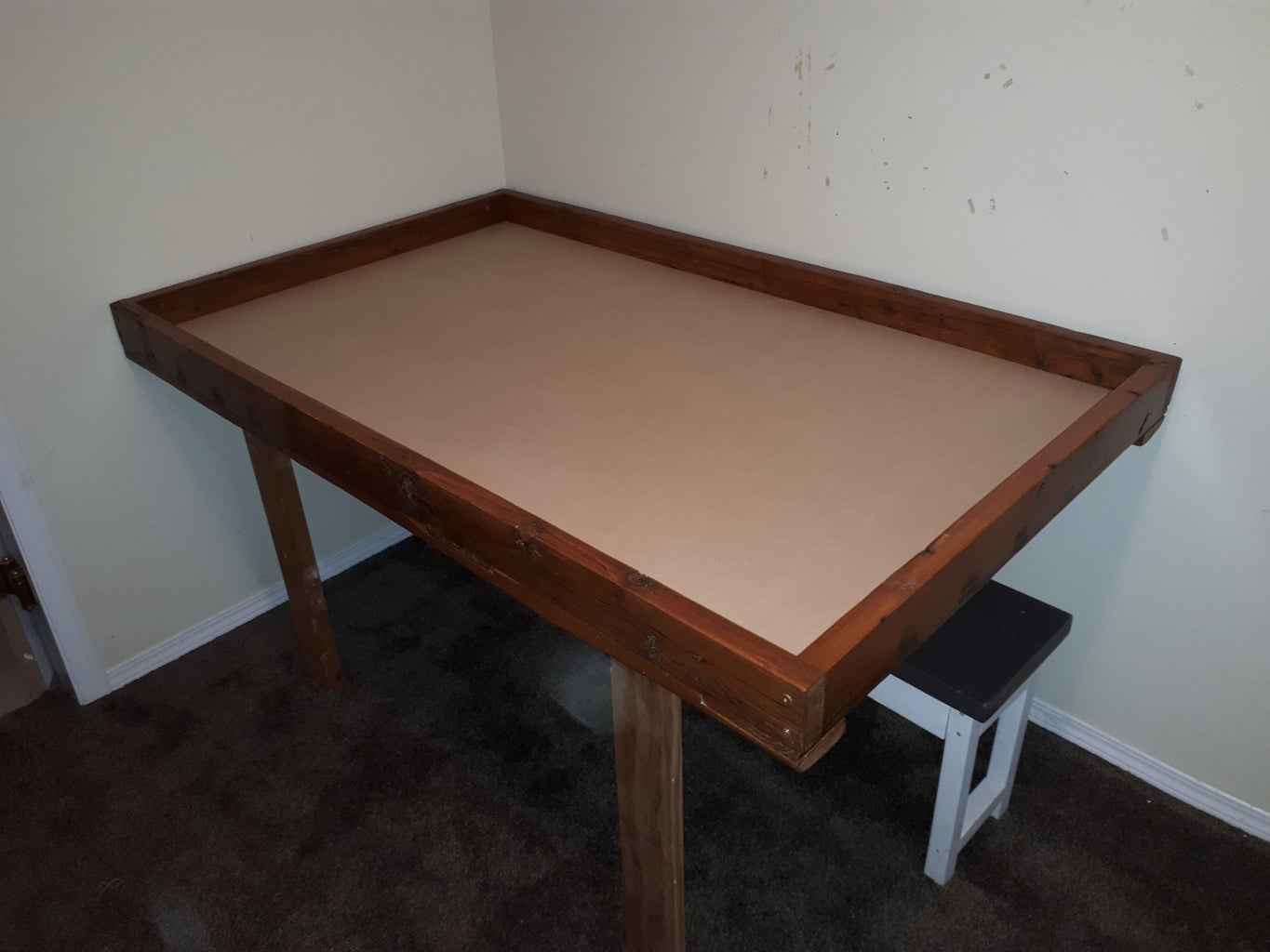 Game Table From Reclaimed Wood