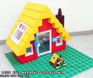 如何制作一个Papercraft 1990 Lego套装6592周末小屋在7个简单的步骤xop
