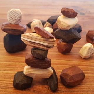 Scrap Wood Balancing Rocks - Tumi Ishi