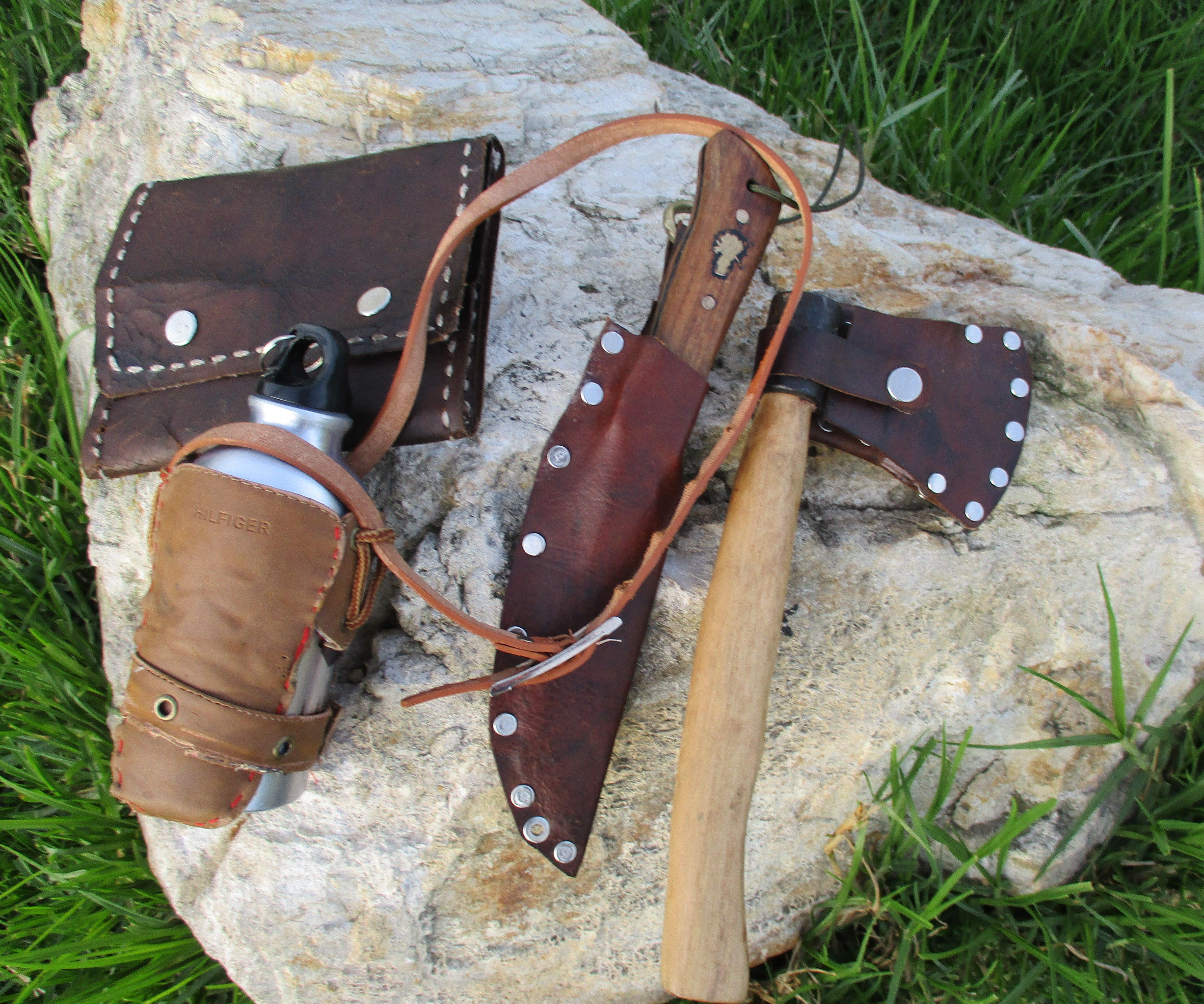 Bushcraft Leather Belt Kit