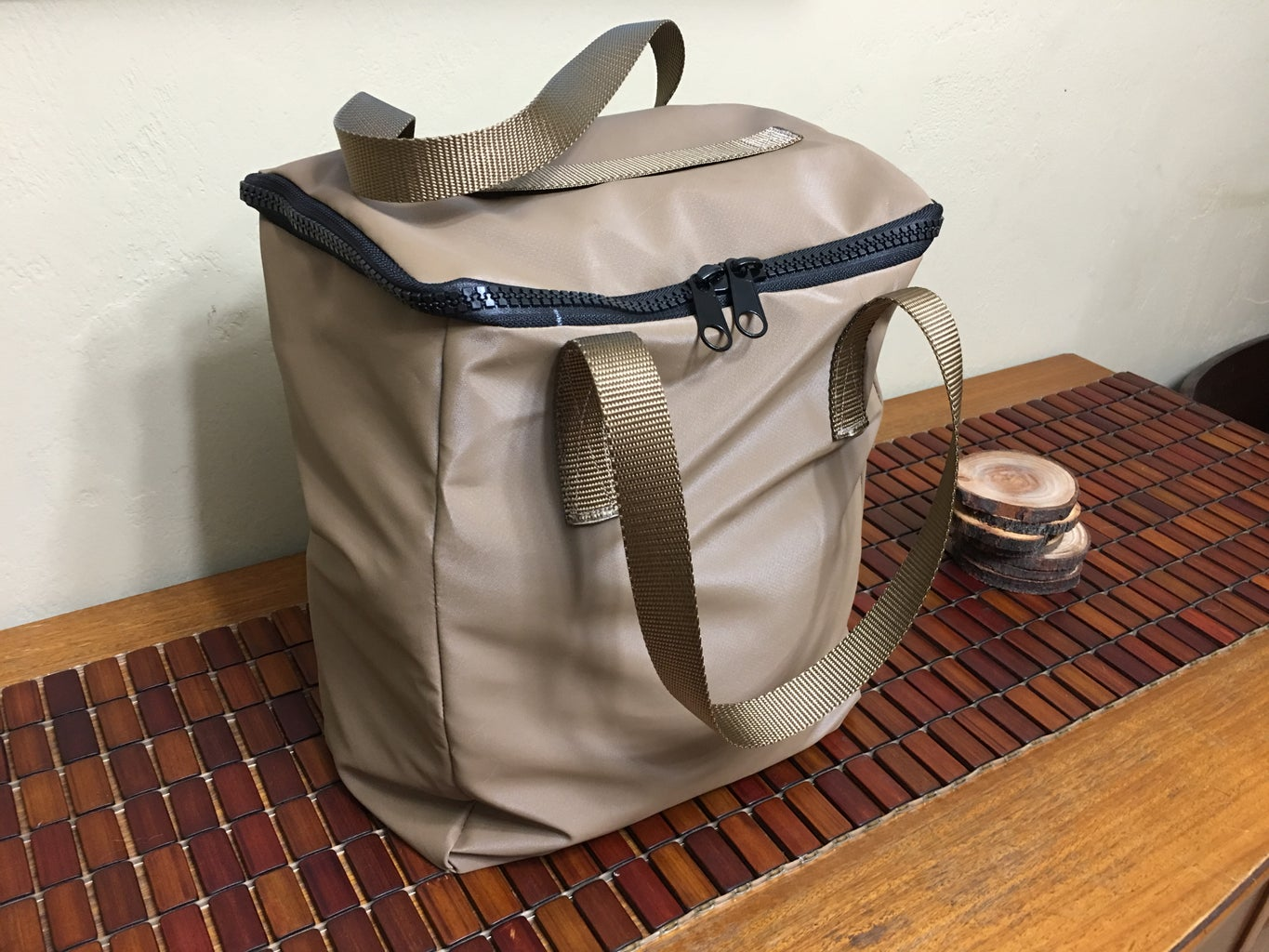 Zippered Top Grocery Bag