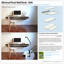Minimal Float Wall Desk - Quick make-over for mass production or DIY