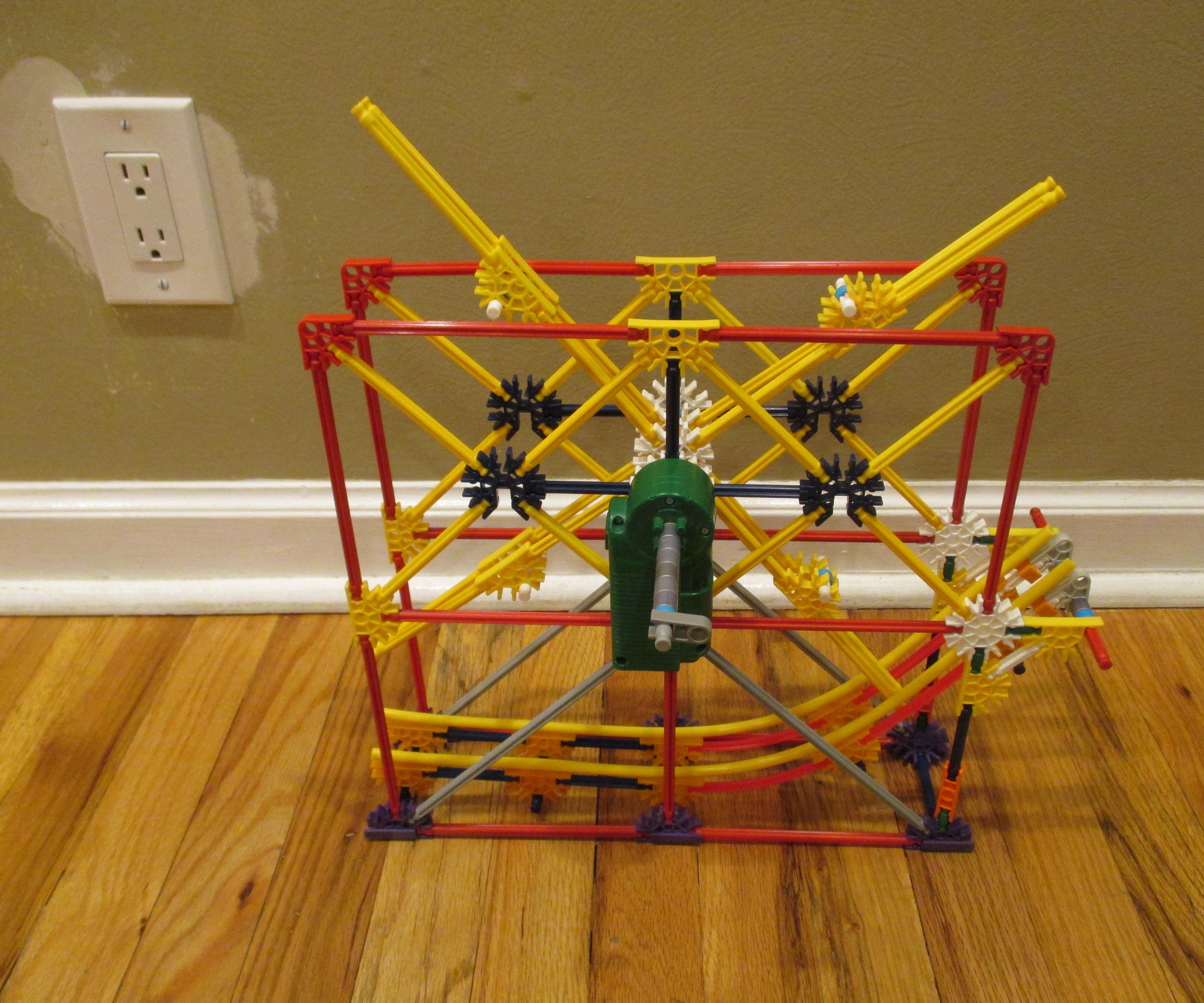 Knextus's Wheel Lift - a K'nex Ball Machine Lift