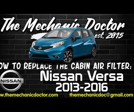 How to Replace the Cabin Air Filter : Nissan Versa 2013-2016