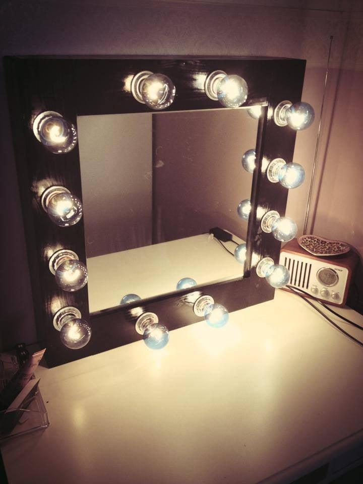 Diy Make Up Mirror With Lights, Mirror With Lights Around It