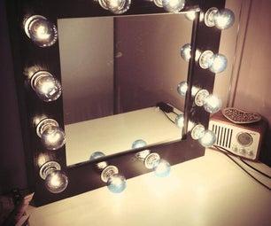 DIY Make-up Mirror With Lights!