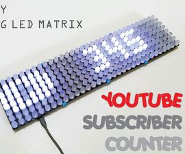 DIY BIG LED Matrix Youtube Subscriber Counter