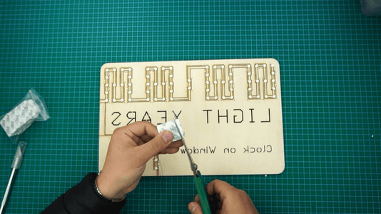 Put 3M Twin Adhesive(1mm) to the Back of LEDs: