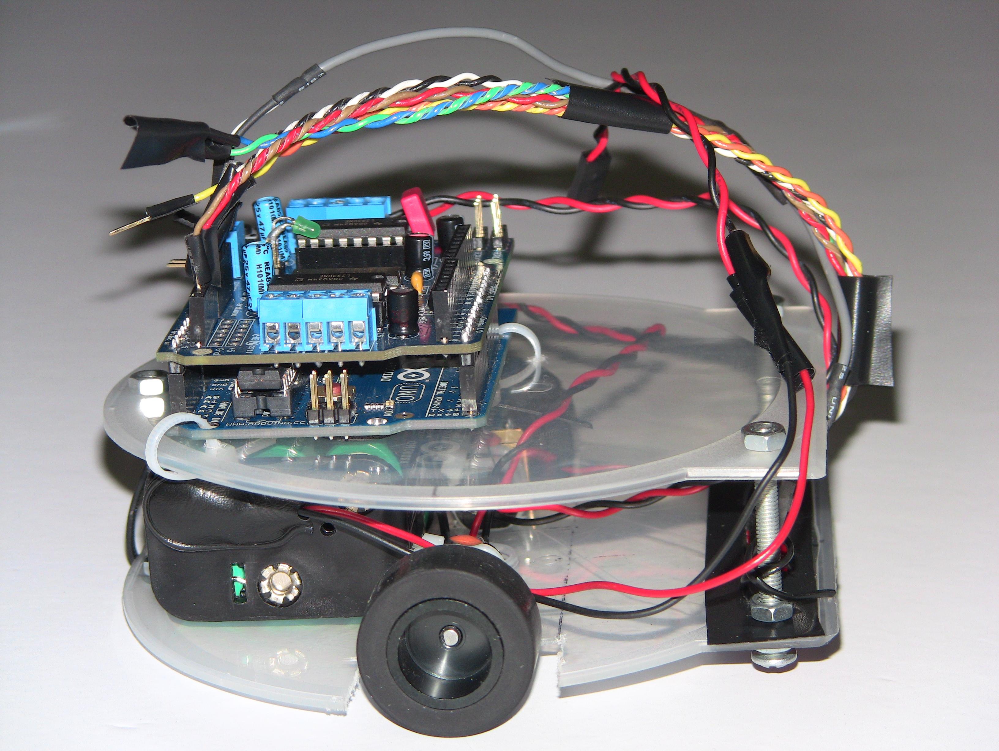 Arduino-based line follower robot using Pololu QTR-8RC line sensor