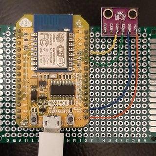 ESP8266 NodeMCU With BME280 Gauges & Chart