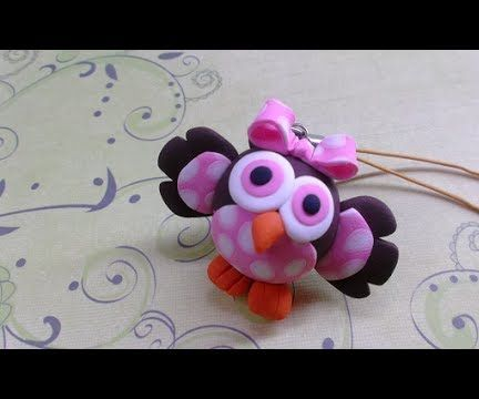 Polymer clay tutorial- Baby Owl