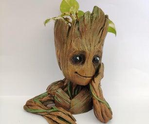 DIY Baby Groot Planter