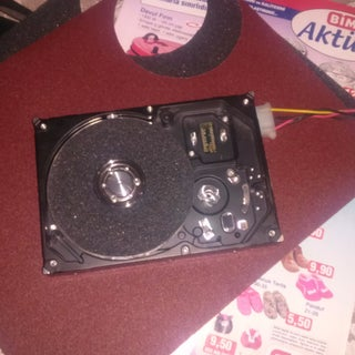 Recycled HDD Rotary Sander for $5