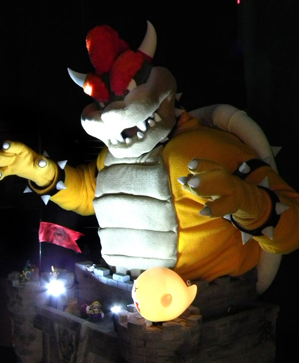 Bowser Costume Castle With Automated Toys