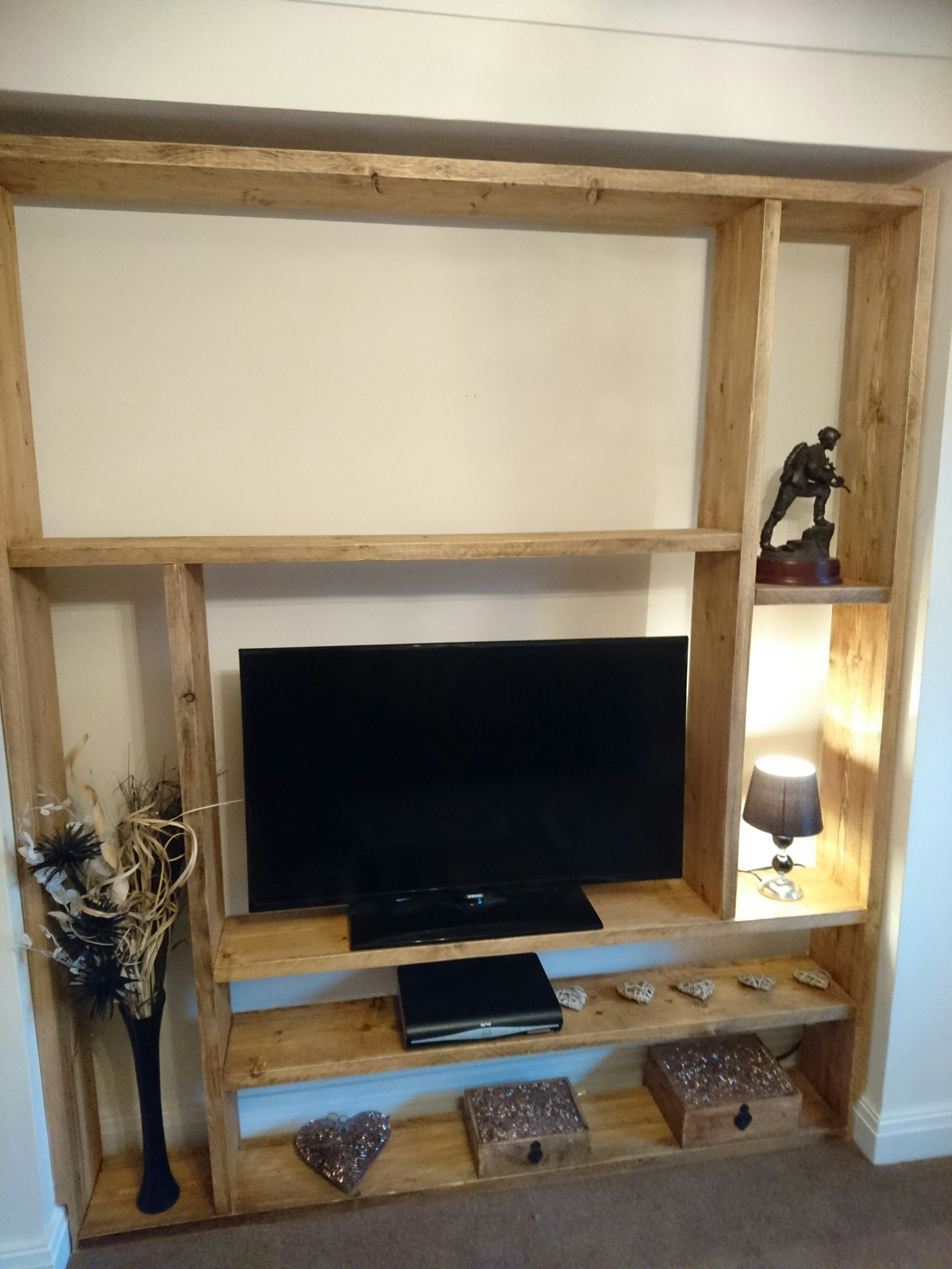 Tv unit / Media display from old scaffold planks