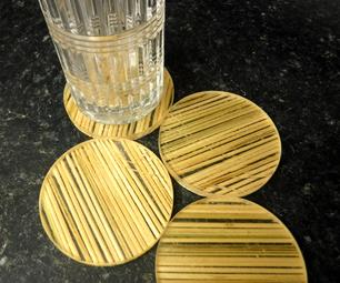 竹子和树脂杯垫