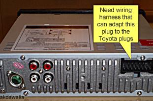 FCAT5AHFA2KM1YW Toyota Radio Wiring Harness