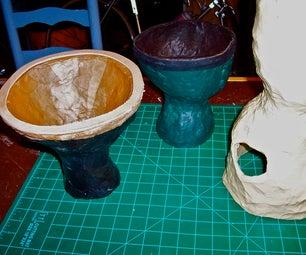 Paper Maché Art Drums