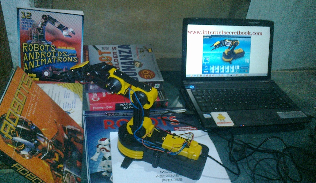 ROBOTIC ARM with USB PC Interface (plus how to assemble)