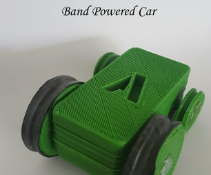 Band Powered Car