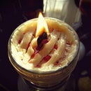 Sweet Cherry Pie - a recycled candle project for Pi Day.