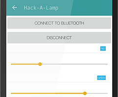 Hack-A-Lamp or how to control Arduino with your smartphone