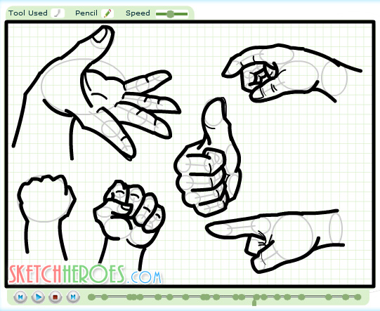 How to draw Hands70